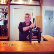 Irish TV Chef Martin Shanahan in our new bar at Milltown House