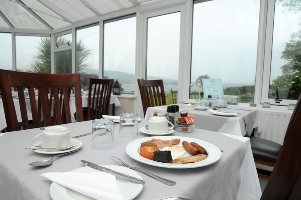 Milltown House Dingle Full Irish Breakfast in the Conservatory