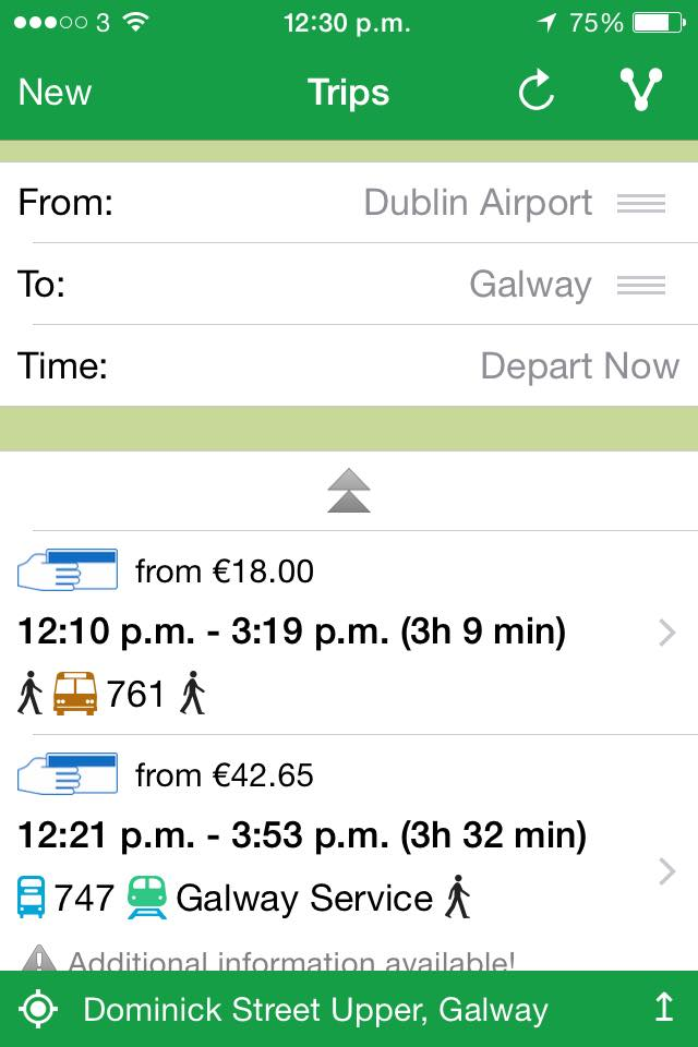 Journey Plan App for Ireland