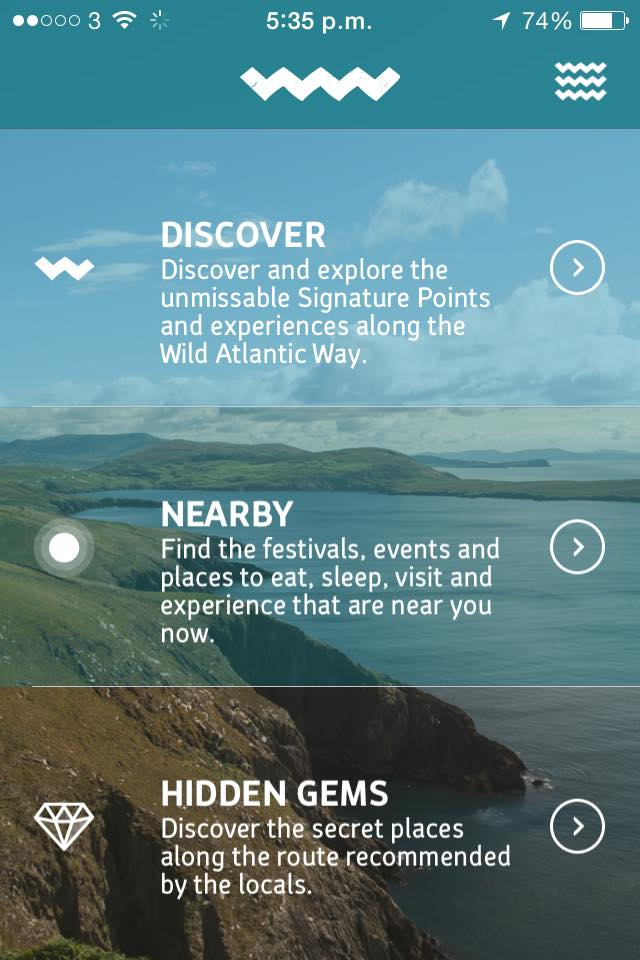 Wild Atlantic Way App for Ireland