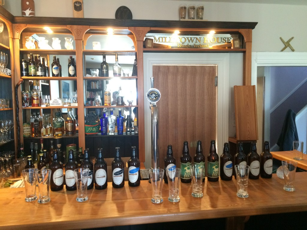 Craft beers from the Dingle Peninsula and from all over the kingdom of Kerry, about to be devoured by beer connoisseurs among our guests at Miltown House, Dingle